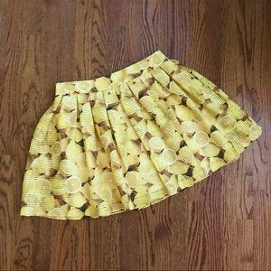 Alice + Olivia lemon pleated mini skirt 10